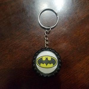 Batman Bottle Cap Keychain